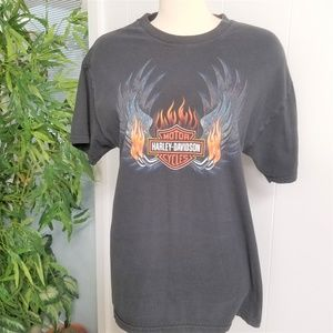 Men's Harley Davidson Black T-Shirt L Seattle